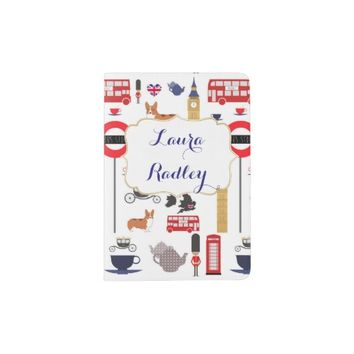 London Love! British themed passport holder