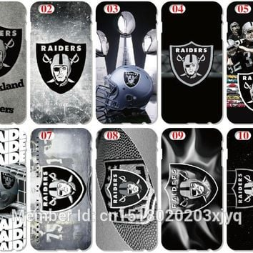 Oakland Raiders Protective Plastic Hard Cell Phone Cover For iphone 4 4S 5 5S SE 5C 6 6S 7 Plus For iPod Touch 4 5 6 Mobile Case