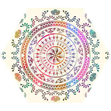 Mandala Hex Wall Decal