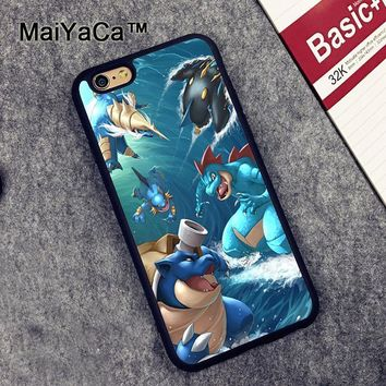 MaiYaCa Water s Amazing Squirtle Soft TPU Phone Cases For Apple iphone 6 Case 4.7'' Fashion Case For iphone 6S 6 CoverKawaii Pokemon go  AT_89_9