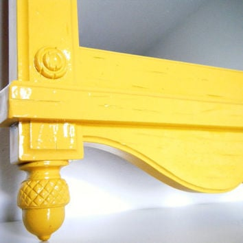Vintage Mirror in Mustard Yellow Painted Mirror by CityGirlsDecor