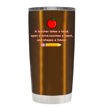 TREK A Teacher Takes a Hand with Apple on Copper 20 oz Tumbler Cup