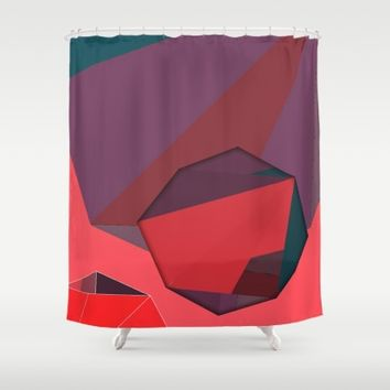 Shape Play 3 Shower Curtain by Ducky B