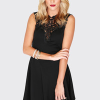 Amour Lace Dress - Black
