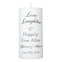 Wedding or Anniversary Personalized Candle