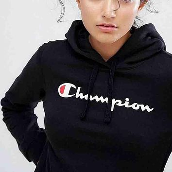 Champion men's and tide fashion sweater hooded sweatshirts F
