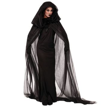 New Arriving!!!Hallowmas Costumes the Female Ghost Cloak Evil Witch Role-playing Stage Performance Clothing