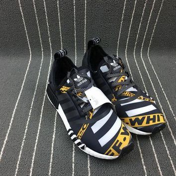 PEAPNO Off-White x Adidas NMD Boost Balck Men Women Sneaker BA7528