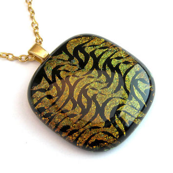Fused Glass Dichroic Necklace Dichroic Glass Hong Kong Market by mysassyglass