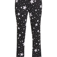 Nyna Star Print Jersey Flares - Trousers - PrettylittleThing   PrettyLittleThing.com