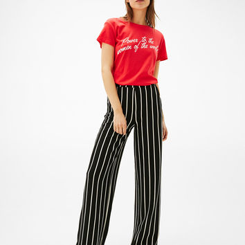 Wide-leg pants - Pants - Bershka United States