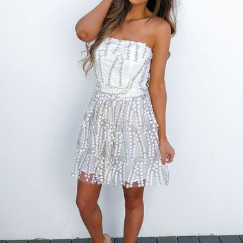 Marry Me Dress: White/Gold