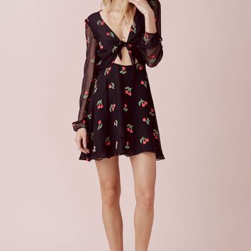 Cherry Twist Mini Dress – For Love & Lemons