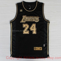 Kobe Bryant 24 Los Angeles Lakers NBA Basketball Jersey La Lakers Kobe Bryant