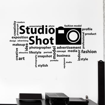 Vinyl Wall Decal Photo Studio Art Photographer Words Stickers Unique Gift (ig4728)
