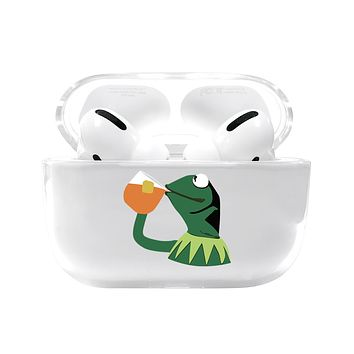 Sipping Frog Airpods Pro Case