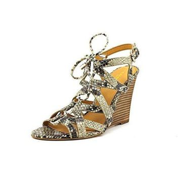 DCCKG2C COACH Women's Joy Natural Print Snake Sandal 6 M