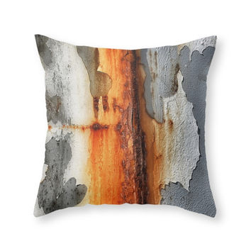 Society6 Rusted Throw Pillow