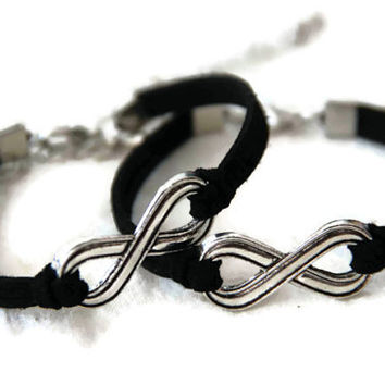 couple infinity bracelet, his and hers bracelet, hers and hers bracelet, best gift for couple/braidsmaid/best friends