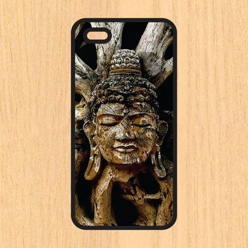 Buddha Tree Carving Print Design Art iPhone 4 / 4s / 5 / 5s / 5c /6 / 6s /6+ Apple Samsung Galaxy S3 / S4 / S5 / S6