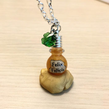 Felix Felicis Harry Potter necklace book version