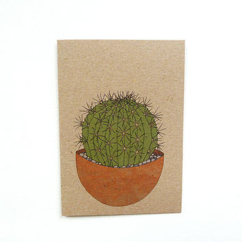 cactus card no.4 (100% recycled)