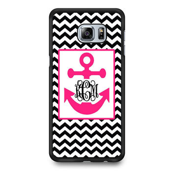 Monogram Anchor Wallpaper Samsung S6 Edge Plus Case