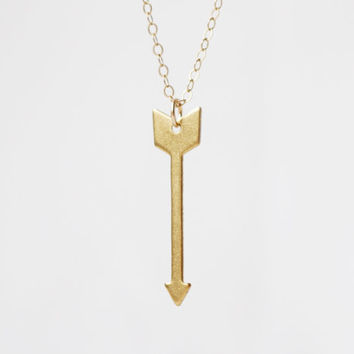 Geo Collection: Gold Arrow Necklace