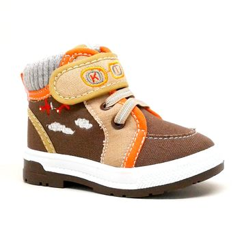 Baby Boy Brown Airplane Themed Sneaker