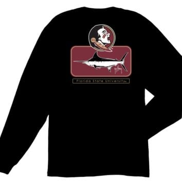 NCAA Florida State Seminoles Guy Harvey Black Blocked T-shirt