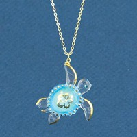 Glass Baron Sea Turtle Aloha Necklace