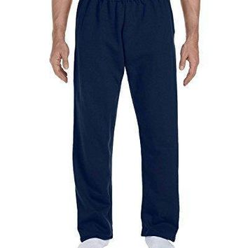 Gildan Men's Dry Blend Open Bottom Sweatpants