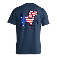 USA Pup Tee in Blue Dusk by Puppie Love
