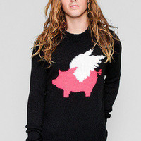 Guys Unisex When Pigs Fly Knit Sweater - Glamour Kills Clothing