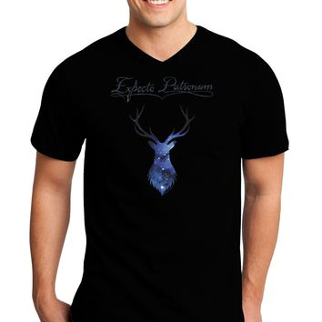 Expecto Patronum Space Stag Adult Dark V-Neck T-Shirt