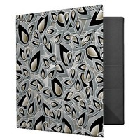 Abstract Teardrop Leaf Binder from Zazzle.com
