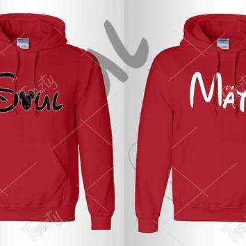Soul Mate Hoodie Hoodies Mickey Minnie Mouse Hoodie Hoodies Sweatshirt Sweat Matching Hoodies Matching Hoodie Couple Hoodie Couple Hoodies