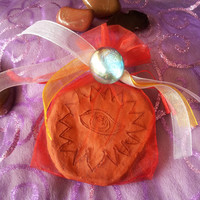 Handmade Clay magical Be Safe from all Harm charm