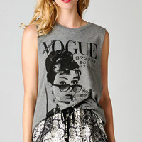 VOGUE AUDREY HEPBURN TANK - GRAY