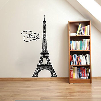 Paris Eiffel Tower Vinyl Wall Words Decal Sticker Graphic