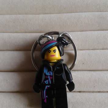 Wyldstyle  keychain keyring  made with LEGO® Movie minifigure