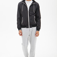 Hooded High-Neck Jacket