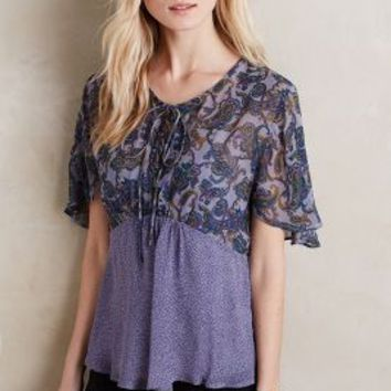 One Fine Day Mulberry Printed Tee in Purple Motif Size: