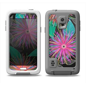 The Bright Colorful Flower Sprouts Samsung Galaxy S5 LifeProof Fre Case Skin Set