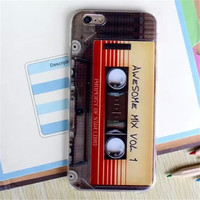 Awesome Mix Cassette Tape Phone Case For iPhone 7 7Plus 6 6s Plus 5 5s SE