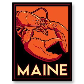 Maine art deco retro travel poster post card from Zazzle.com