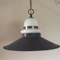 Vintage Barn Gas Station Farm House Pendant Light Mid Century 1940s