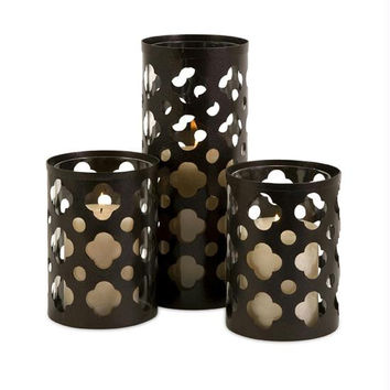 3 Candle Holders - Moroccan Inspired