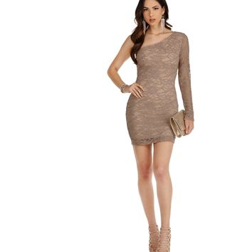 Nude Make Time To Sparkle Lace Dress