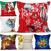 Decorative Pillow Covers Christmas Pillow Cover Case Short Plush New Year Decoration Christmas Gift 45*45cm